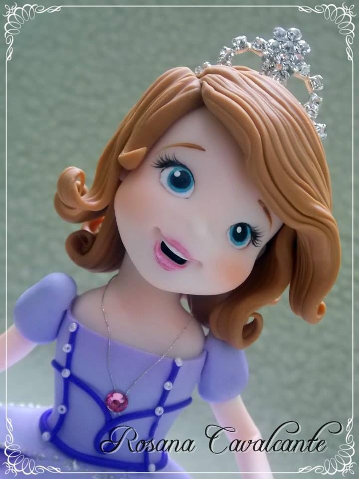Princesa Sofia - Porcelana Fría - Biscuit masa para modelar tortas