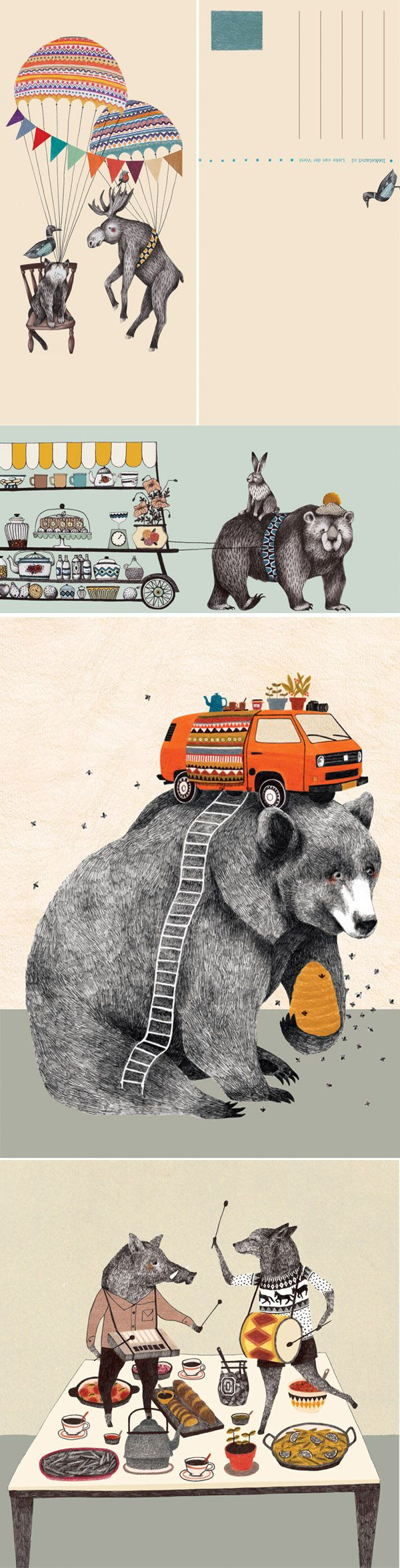 Lieke van der Vorst illustrations - I have a poster of one in my office and it never fails to make me smile.