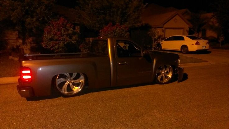 Bagged nnbs silverado on intro wheels   Custom trucks ...