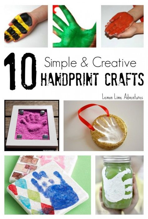 10 Simple Handprint Crafts | Awesome gift ideas!