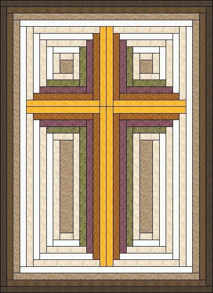Log Cabin built ... by Judit Hajdu | Quilting Pattern - Looking for your next project? You're going to love Log Cabin built Christian Cross by designer Judit Hajdu. - via @Craftsy