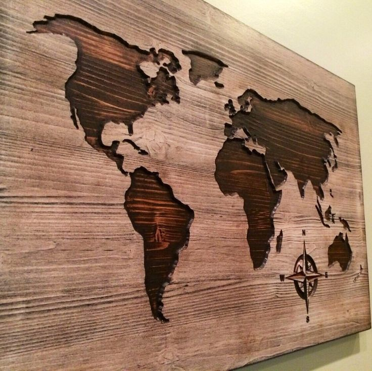 Carved, wooden world map, wood wall art, world map home decor, world map decal, world map poster, distressed, chic, shabby, housewarming