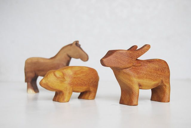 Hand Carved Animal Toys from Jackfruit wood by Abraham Acala II- Paete, Laguna