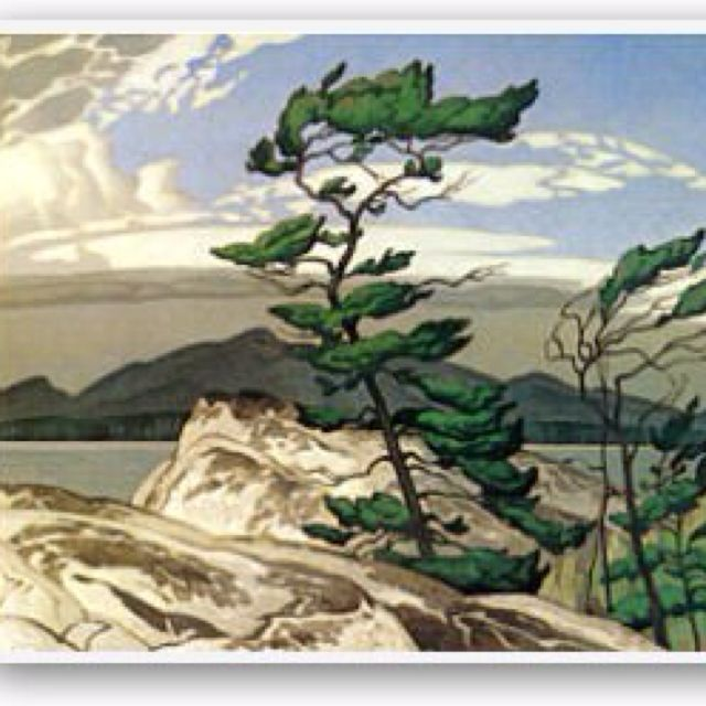 One of my fav pieces from the Group of Seven.  The White Pine  By A.J. Casson