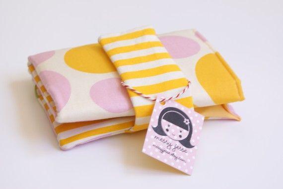 Circular Needle Storage Organizer | Circular Knitting Needle Organizer, Yellow Pink Circles