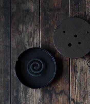 iron burner for mosquito coils and incense, Jurgen Lehl   Babaghuri