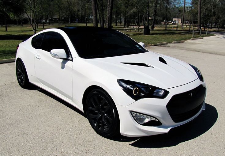 2015 hyundai genesis coupe black rims, dark tint (worth the ticket)
