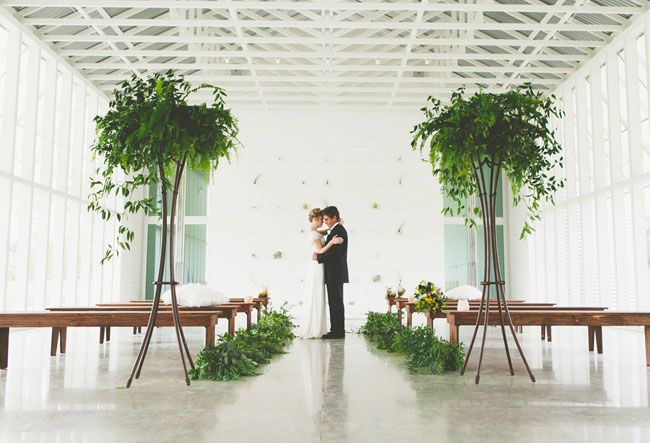 open, organic and modern ceremony #ceremony #wedding #modern