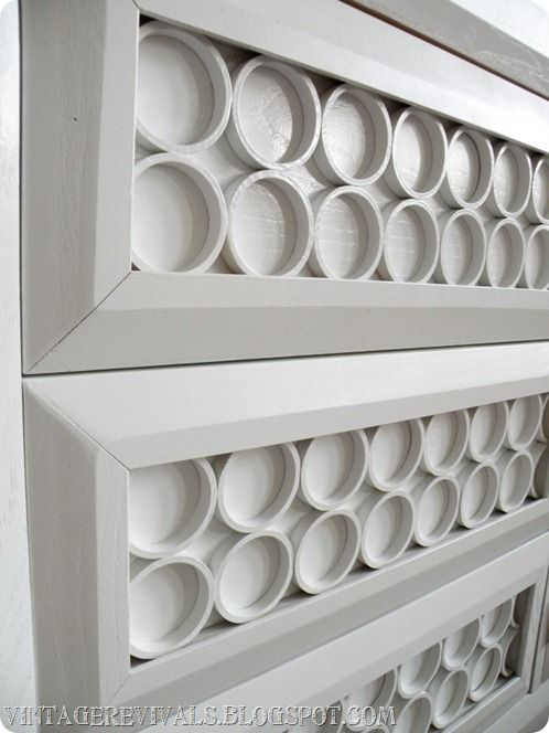 who knew adding pvc pipe to a dresser could be so chic!