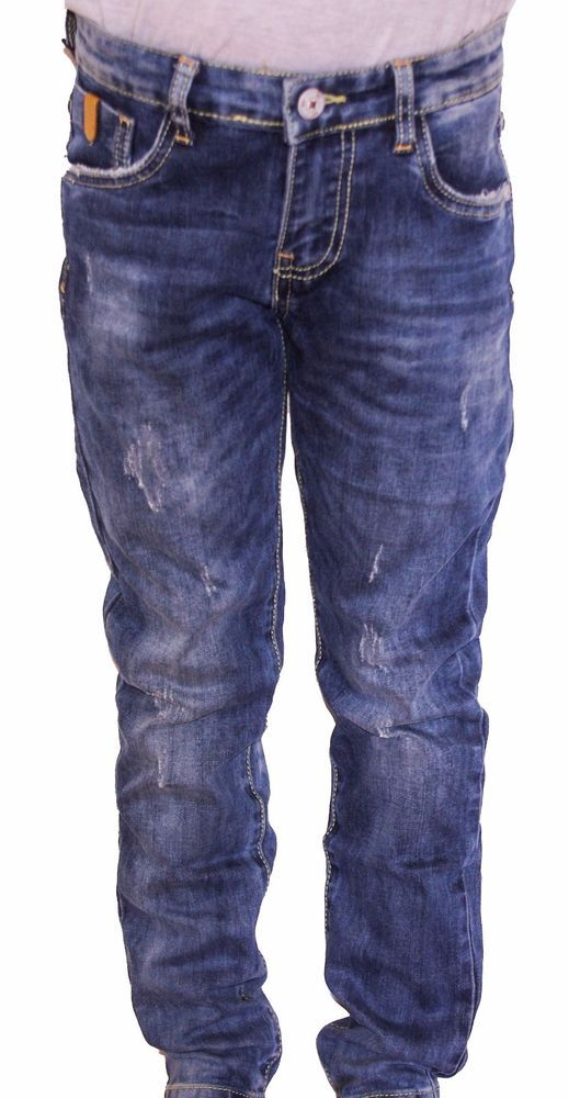 PANTALONI JEANS BAMBINO DENIM WASHED 5 TASCHE PRIM.ESTATE TG.4/12 ANNI