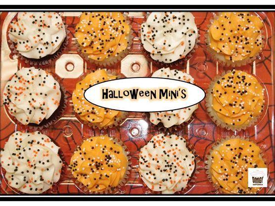 Halloween mini cupcakes! Visit Omg! Cupcakes at www.facebook.com/OmgCupcakesGP
