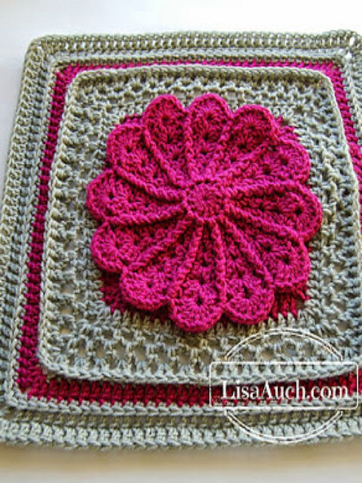 Pane In My Dahlia from Free Crochet Patterns and Designs LisaAuch