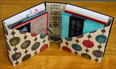 The Efficient Crafter: Card Carrier Tutorial | Discover how to make this cute folio for storing/gifting handmade greeting cards. #clubscrap