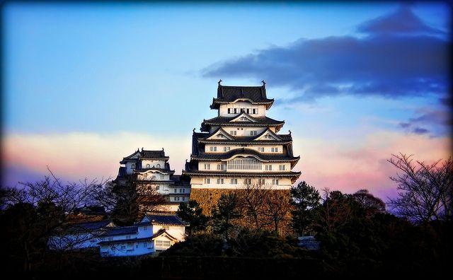 Himeji Castle at Sunrise by JapanDave, via Flickr