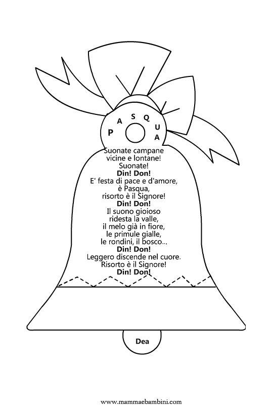 Poesia di Pasqua: Campan Annunciano, Maestra Palomba, Loro Festoso, Con Chi, Annunciano Con, Poetry, Pasqua Con, Chi Vuoi, Maestra Manu