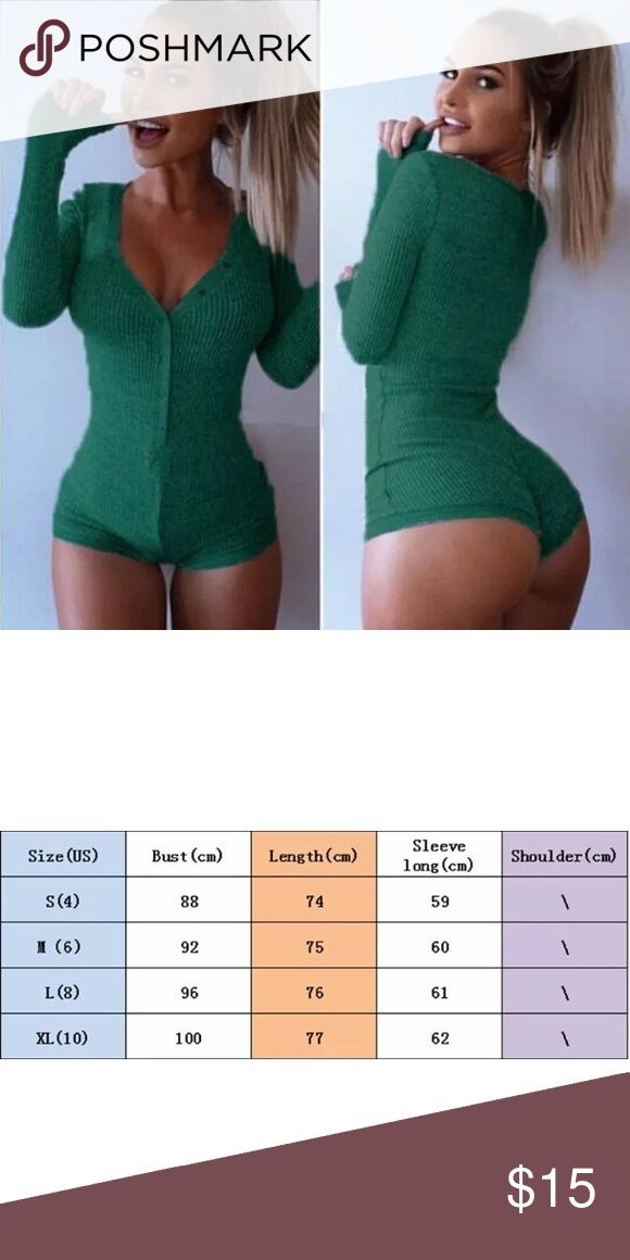 Sexy Green Lingerie Winter Bodysuit Brand new fits a XL please see size chart before purchasing Intimates & Sleepwear