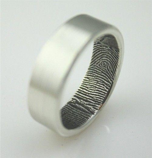 Her fingerprint inside your wedding ring.