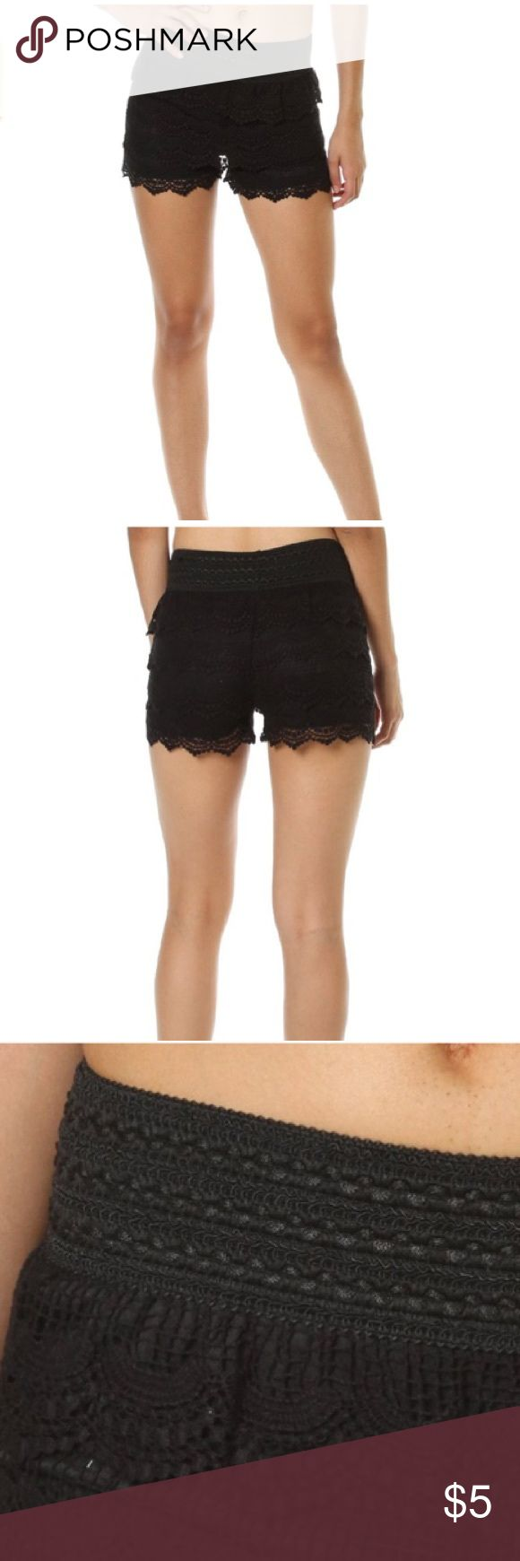 Pink Clubwear Crochet Black Shorts Size S Pink Clubwear Esther Cullim women's tassel edge Black crocheted shorts. They are new without tags's and run small probably would fit an extra small better then a small. Be sure to check out my other items. Thanks for looking. Pink Clubwear Shorts