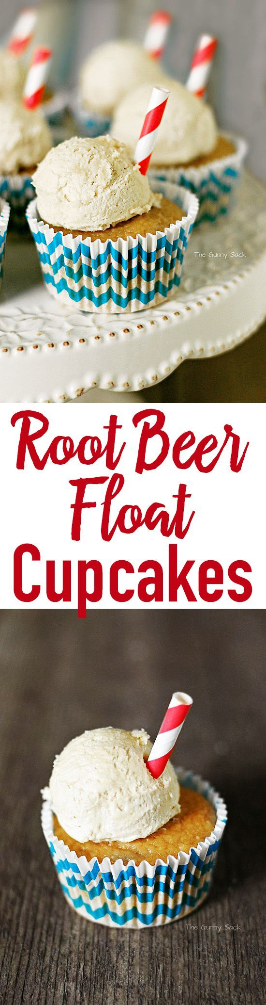 Root Beer Float Cupcakes | The Gunny Sack