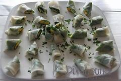 Papaya Spring Rolls with Peanut Sauce | My Food | Pinterest | Peanut ...