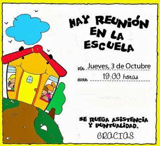Dulce Infantil: REUNIÓN DE PADRES
