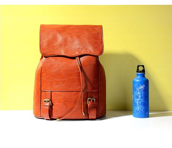 Handmade leather material backpack, vintage design, soft texture, really nice quality and detail, wonderful color, goes with everything! It also