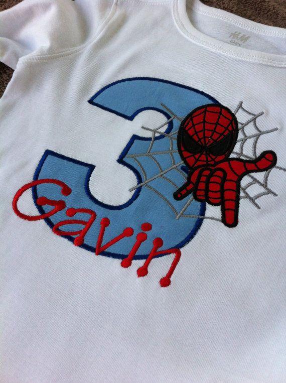 Spiderman Shirt Spiderman Birthday Shirt by Rubyandoliver on Etsy