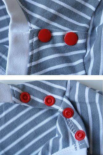 herzekleid: Gastbeitrag vom Stoffbüro: Tutorial – Babyshirt mit geknöpfter Schulter