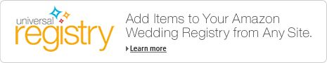 Smart way to do a wedding registry...use Amazon and add things from all over the place so you aren't stuck with ONLY things from Target, Bed Bath and Beyond, and Macys...but it allows people either order online or shop in person...genius! lets you do Etsy too!