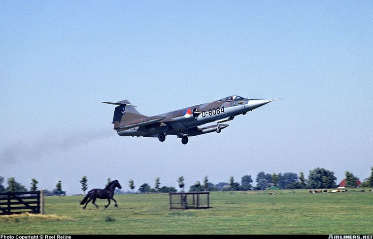 Lockheed (Fokker) F-104G Starfighter aircraft picture taken at leeuwarden airbase the netherlands 1983.