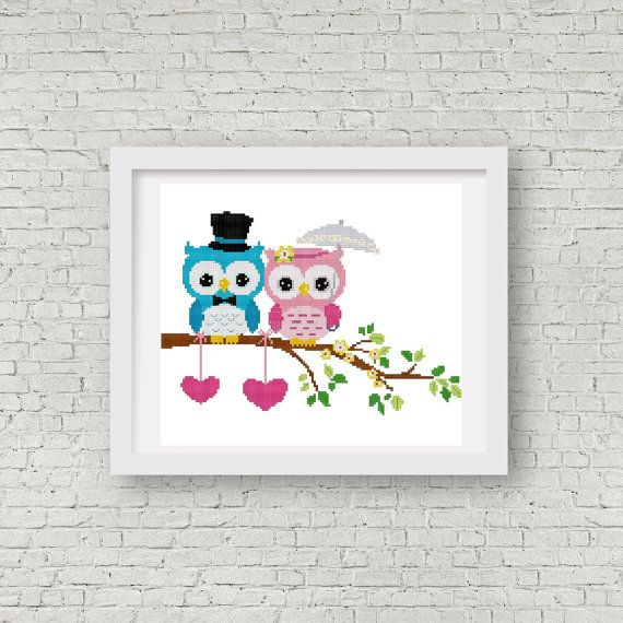 Wedding Cross Stitch Design and Pattern  INSTANT by StitchValley