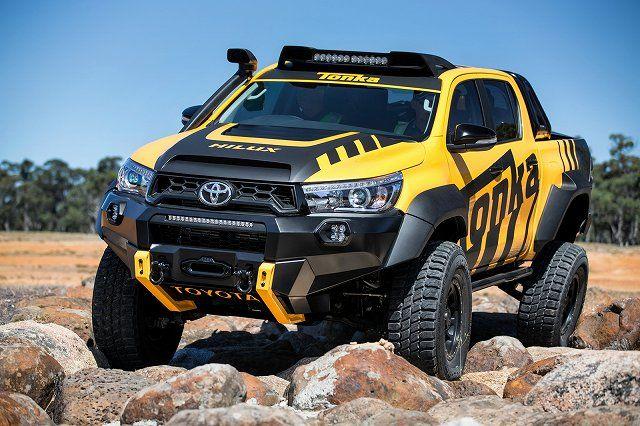 トヨタ・オーストラリアは、ピックアップ「ハイラックス」をベースにしたコンセプト「ハイラックス・トンカ・コンセプト」を公開 強力なロッククライマーに