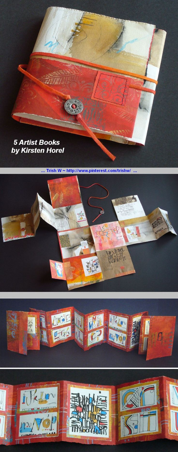 Inspiration :: 5 Artist Books, by Kirsten Horel. Interesting page layouts #art_journal