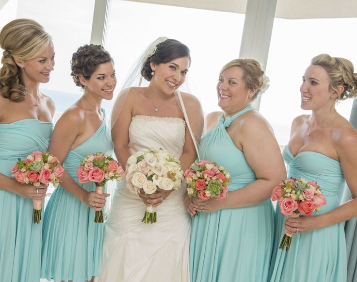 Bridal Party Hair And Makeup Wearing Blue Dresses By Kylelynn Weddings On Location Wedding