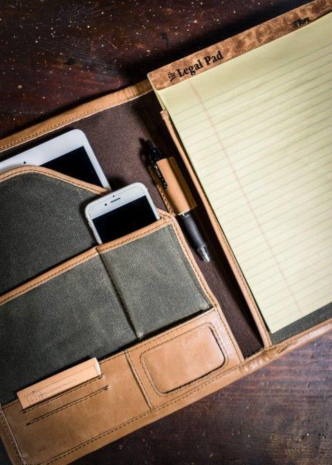 Leather Portfolio Case: Riverton, Green