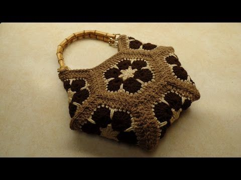 How To #Crochet African Flower Hexagon Handbag Purse #TUTORIAL #324 - YouTube