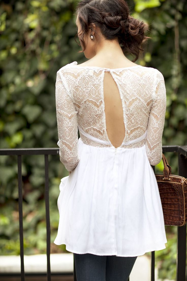 Lovely lace: Le Styles, Keepsake Lace Tops Chriselle4, Anyth Lace, Pretty Lace, White Lace, Lace Back, Details Lace, Everyday Bride, Adorable Tunics