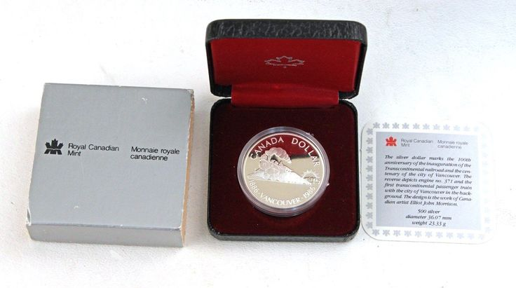 Item specifics    									 			UPC:   Does Not Apply      							 							  1986 Canada Silver Proof Dollar Box & COA Vancouver Train  Price : $12.00  Ends on : 4 weeks Order Now