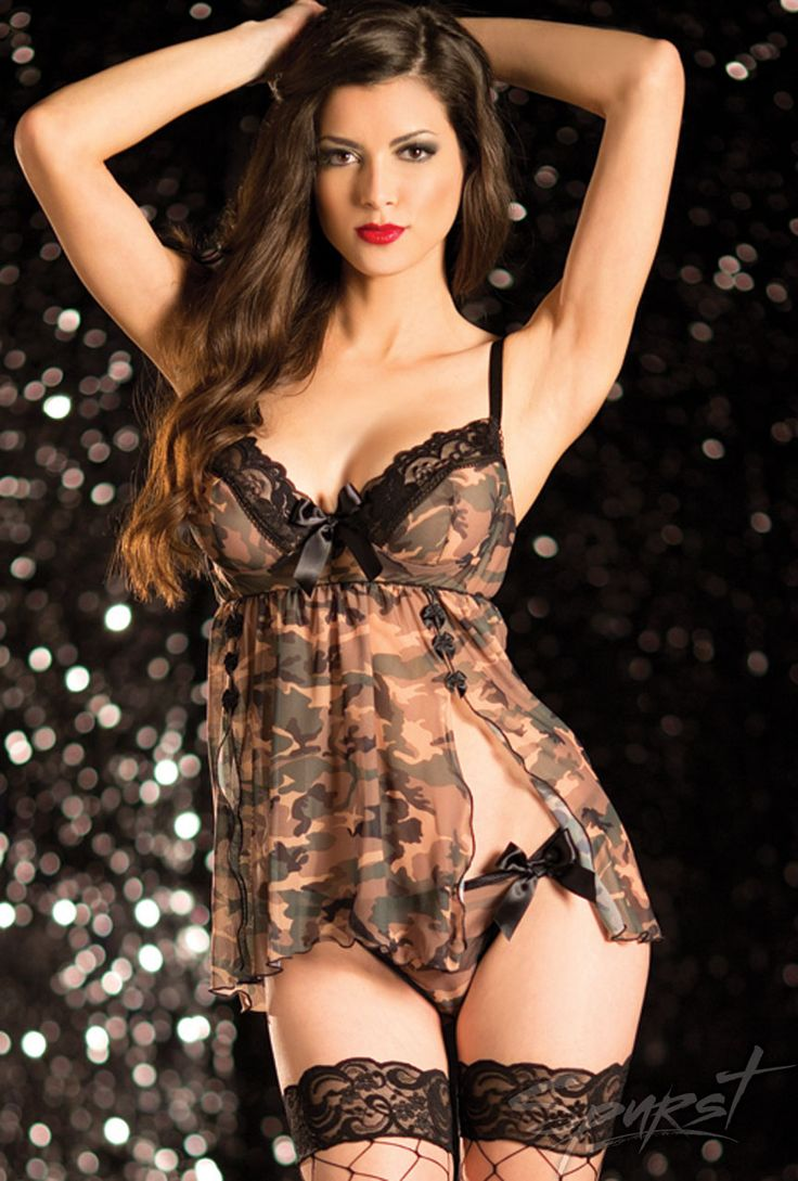Military Angel Babydoll Shellie Boudoir Photo Ideas