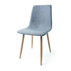 Wood Finish Upholstered Dining Chair