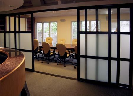 Sliding room dividers - slidingdoorco but white, clear glass, and more of french look