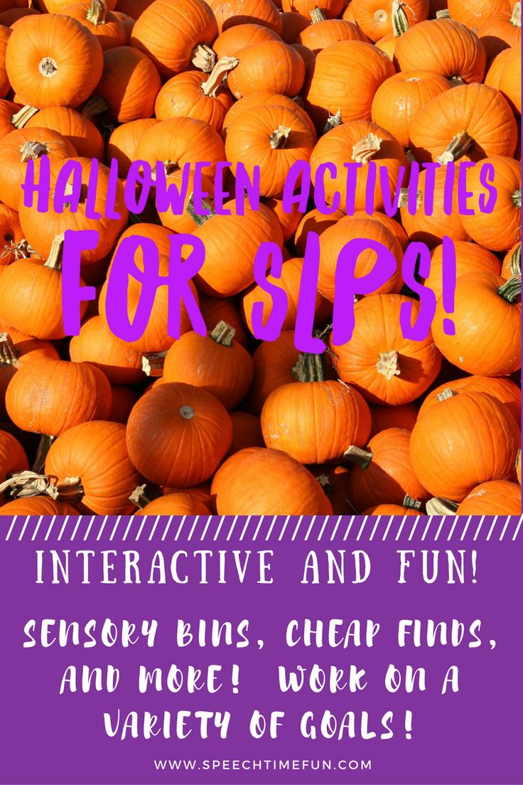 Want to work on vocabulary, wh questions, articulation, story recall and more with a Halloween theme?!  Check out these interactive and fun speech therapy ideas for Halloween!