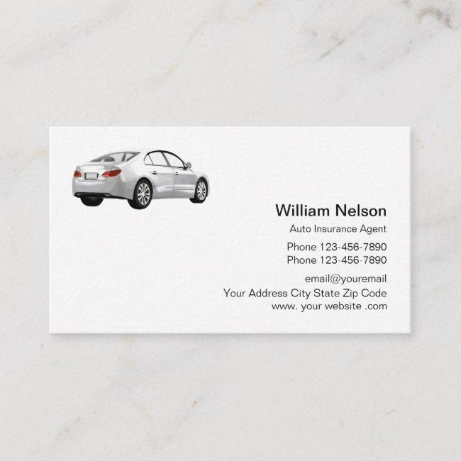 Professional Auto Insurance Agent Business Card Zazzle Com