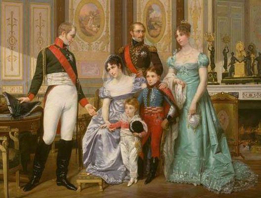 Cliquez ici pour voir une image agrandie de : L'impératrice Joséphine reçoit le tsar Alexandre 1er à la Malmaison (Hector Viger, 1864, musée de la Malmaison)