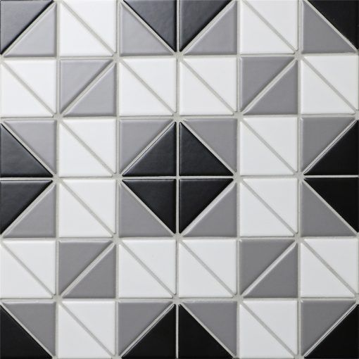 Classic Square 2 Triangle Geometric Tiles Patterns Porcelain