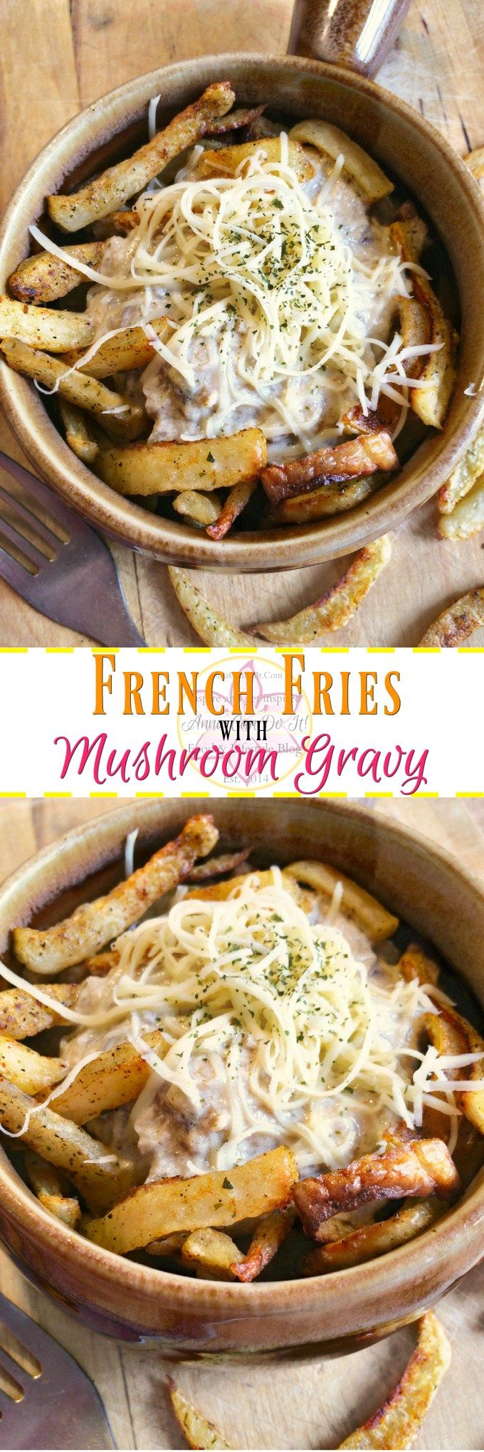 French Fries with Mushroom Gravy - Anna Can Do It!