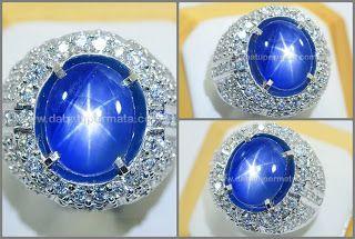 Elegant Royal Burmese SAPPHIRE Star No Heat - SPS 182 - Batu Permata   Batu Mulia   Cincin Batu