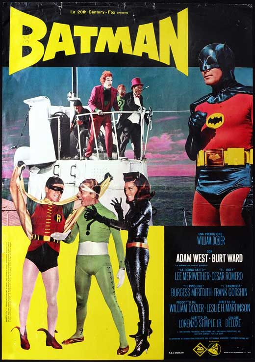 Batman movie poster in 1943 with the great Adam West. #batman #lettering