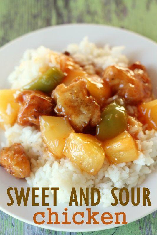 One of the best and easiest Sweet and Sour Chicken recipes. { lilluna.com }