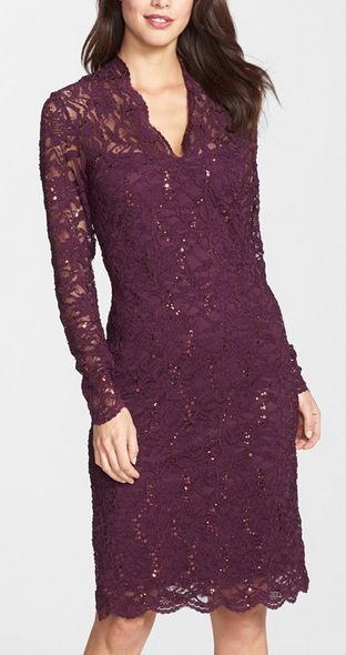 Beautiful lace dress in marsala http://rstyle.me/n/vx93hnyg6